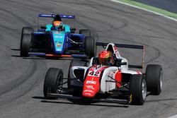 Artem Petrov, DR Formula leads Leonard Hoogenboom, Cram Motorsport