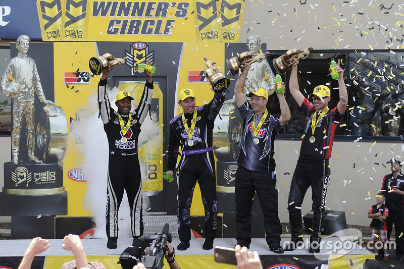Antron Brown, Jack Beckman, Greg Anderson, Andrew Hines