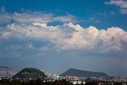 Vista de los suburbios de la ciudad de México