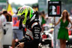 Sergio Perez, Sahara Force India F1, sur la grille