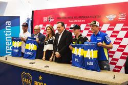 Yonny Hernandez, Aspar Racing Team; Aleix Espargaro, Team Suzuki MotoGP; Pol Espargaro, Monster Yama
