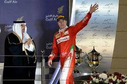 Podium : le deuxième Kimi Raikkonen, Ferrari