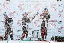 Il podio della tera gara del Mugello
