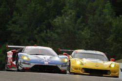 #66 Chip Ganassi Racing Ford GT: Joey Hand, Dirk Müller, #3 Corvette Racing Chevrolet Corvette C7.R: