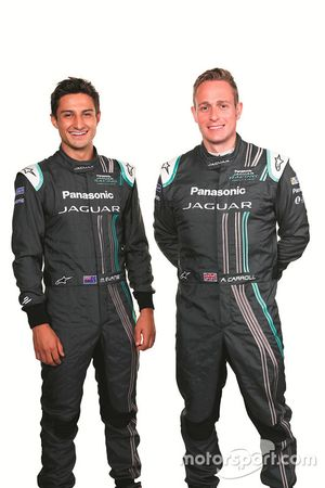 Mitch Evans, Jaguar Racing ve Adam Carroll, Jaguar Racing
