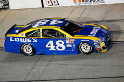 Jimmie Johnson, Hendrick Motorsports Chevrolet, crashed car