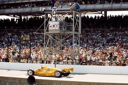 Checkered flag for Al Unser
