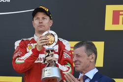 Podium : le troisième, Kimi Raikkonen, Ferrari