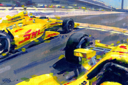 2014 Indy 500 finish - Ryan Hunter Reay and Helio Castroneves