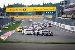 Start of the race, Marco Wittmann, BMW Team RMG, BMW M4 DTM leads