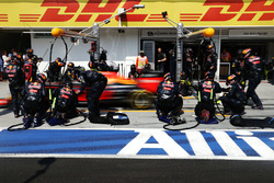 Max Verstappen, Red Bull Racing RB12 aux stands