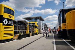 Renault Sport F1 Team motorhome in the paddock
