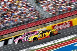 Chris Buescher, Front Row Motorsports Ford, Matt DiBenedetto, BK Racing Toyota