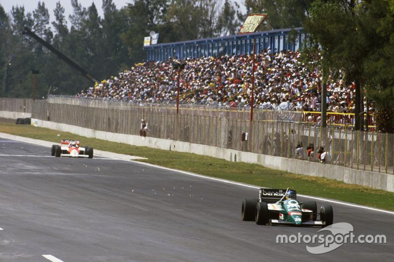 Gerhard Berger, Benetton lidera a Alain Prost, McLaren