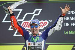 Podio: ganador Jorge Lorenzo, Yamaha Factory Racing