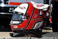 Helio Castroneves, Team Penske Chevrolet, helmet