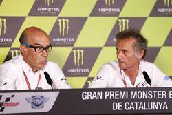 Carmelo Ezpeleta, CEO Dorna Sports, Franco Uncini, Responsabile della sicurezza FIM Grand Prix