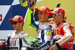 Podium: winner Valentino Rossi, Yamaha Factory Racing, second place Jorge Lorenzo, Yamaha Factory Ra