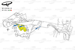 Détails du nez et du S-duct de la Mercedes W07