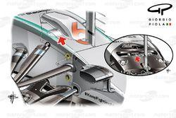 Mercedes W06 ön süspansiyon koyu