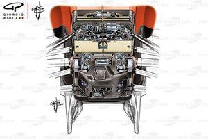 La suspension avant de la Ferrari SF90