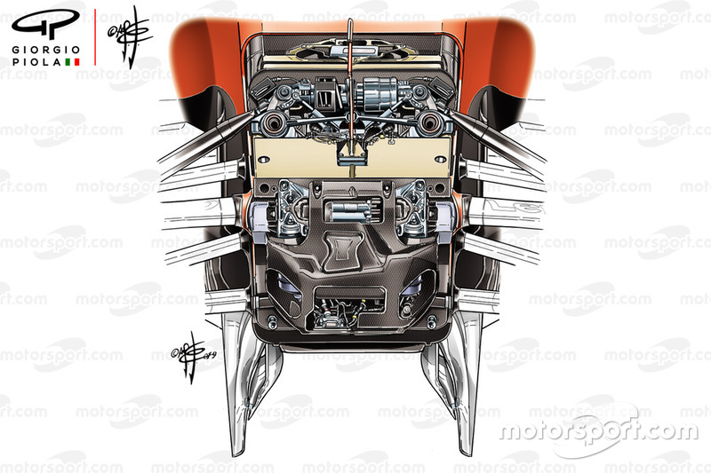 La suspension avant de la Ferrari SF90 de 2019