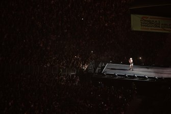 Fans pack around the stage to enjoy a performance from Gwen Stefani