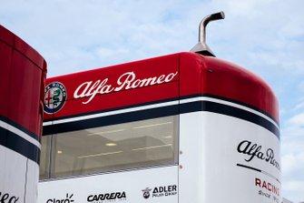 Dettaglio del motorhome Alfa Romeo Racing