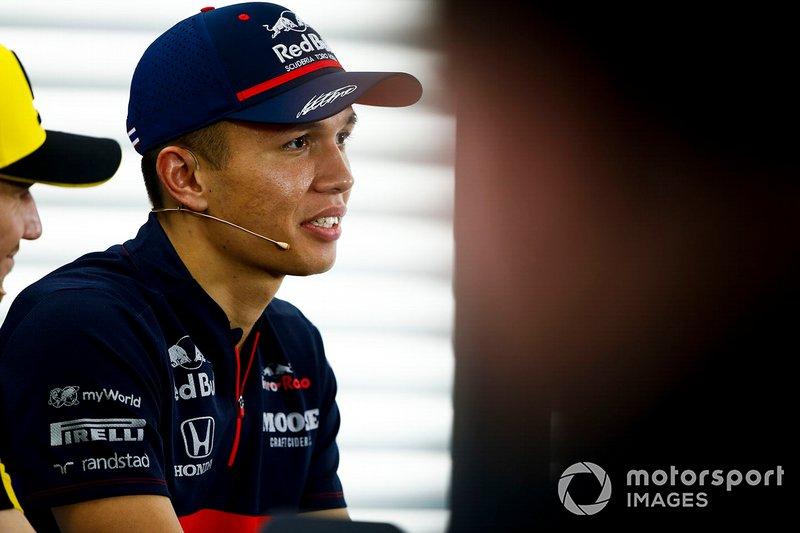 Alexander Albon, Toro Rosso in the Press Conference