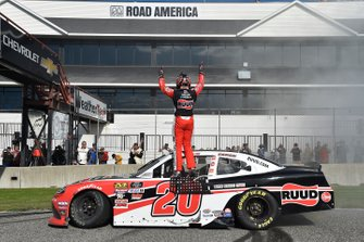 Race Winner Christopher Bell, Joe Gibbs Racing, Toyota Supra Ruud