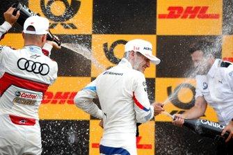 Podium: Race winner Marco Wittmann, BMW Team RMG, Nico Müller, Audi Sport Team Abt Sportsline