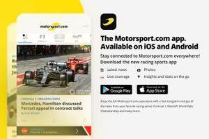Motorsport.com App announcement