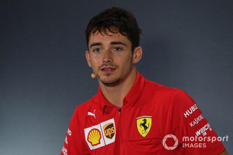 Ganador Charles Leclerc, Ferrari, en la conferencia de prensa