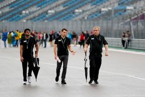 Mahaveer Raghunathan, MP Motorsport walks the track