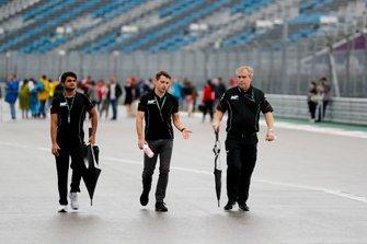 Mahaveer Raghunathan, MP Motorsport walks the track