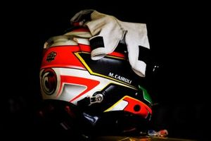 Helmet of #56 Team Project 1 Porsche 911 RSR: Matteo Cairoli