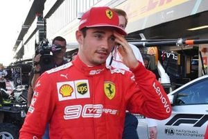 Pole starter Charles Leclerc, Ferrari