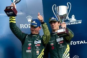 Podium: #97 Aston Martin Racing Aston Martin Vantage AMR: Alexander Lynn, Maxime Martin