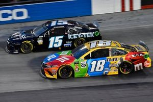Kyle Busch, Joe Gibbs Racing, Toyota Camry M&M's and Ross Chastain, Premium Motorsports, Chevrolet Camaro Chantz Auto Group