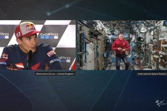 Marc Marquez, Repsol Honda Team and Drew Feustel, NASA astronaut into the International Space Station