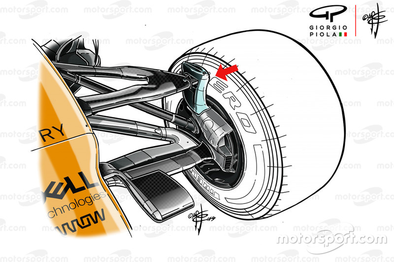 McLaren MCL34 front suspension detail