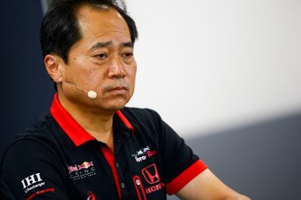 Toyoharu Tanabe, F1 Technical Director, Honda, in the Team Principals Press Conference