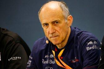Franz Tost, Director, Toro Rosso, en la Conferencia de Prensa de los Directores de Equipo