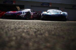 #60 Kessel Racing Ferrari F488 GTE: Sergio Pianezzola, Nicola Cadei, Andrea Piccini. #83 Kessel Racing Ferrari F488 GTE: Manuela Gostner, Rahel Frey, Michelle Gatting