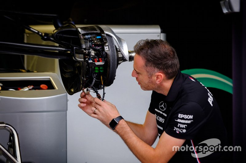 Mercedes AMG F1 team member at work