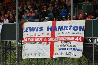 Support for Lewis Hamilton, Mercedes AMG F1