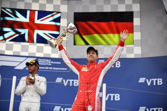 Sebastian Vettel, Ferrari op het podium