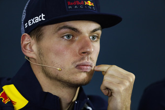 Max Verstappen, Red Bull Racing, in de persconferentie