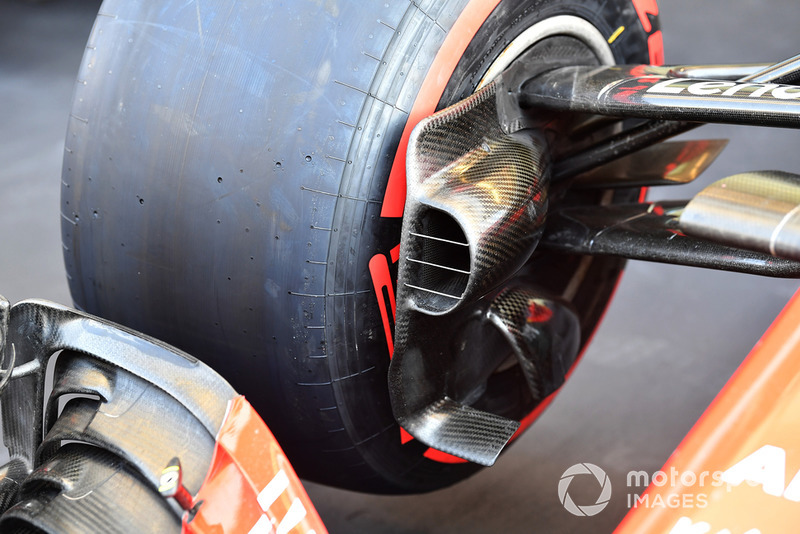 Ferrari SF71H front brake duct detail
