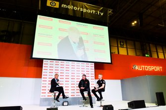 Martin Donnelly and Mike Simpson on stage with Alan Hyde